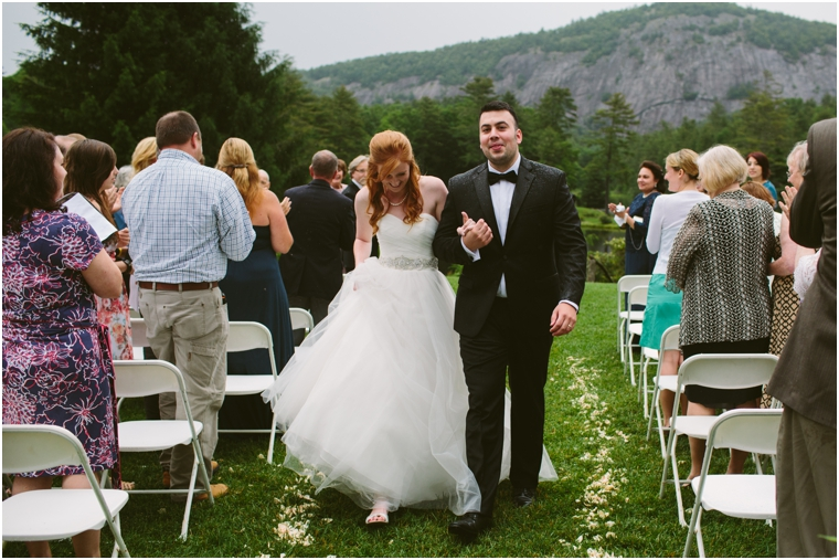 high hampton inn cashiers wedding ceremony